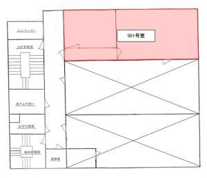 大阪戸上ビル5階間取り図