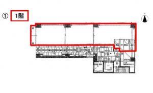 BRAVI北浜(ブラービ北浜)ビル1階間取り図