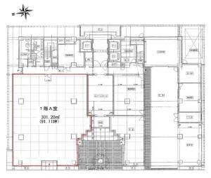 オーク江坂ビル1階間取り図