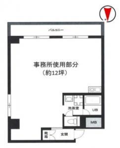 クレピス21ビル11号室間取り図