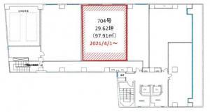 本町コラボビル7階間取り図
