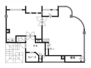アンビション三和ビル2階間取り図