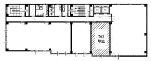 NK谷町ビル7階間取り図
