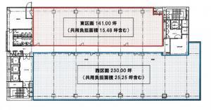 ABC-MART梅田ビル基準階間取り図
