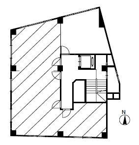 西八千代ビルB-E号室間取り図