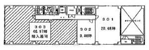 トーア紡第2ビル3階間取り図