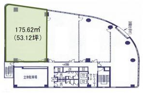商業ビル8階間取り図
