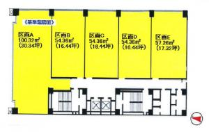 西谷東急ビル基準階間取り図