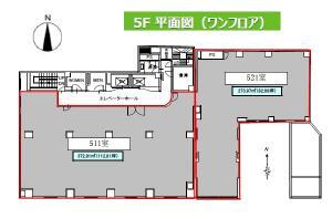 京富ビル5階間取り図