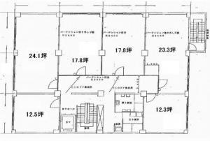 兼吉本館ビル基準階間取り図