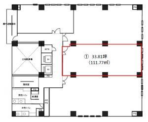 井門江坂駅前ビル8階間取り図