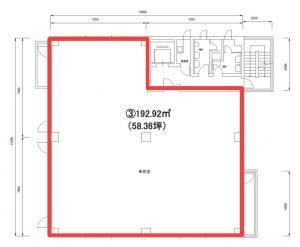 中央ビル5階間取り図