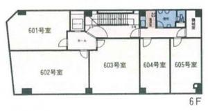 西大阪ビルディング6階間取り図