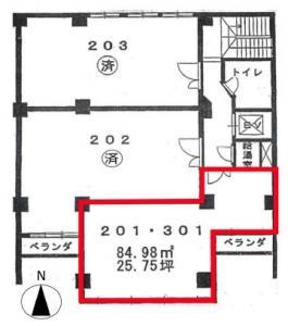 新大阪生原ビル2階間取り図