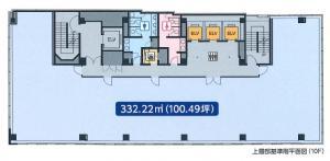 ヒューリック難波ビル高層部基準階間取り図