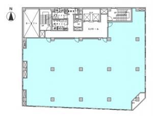 西天満パークビル基準階間取り図