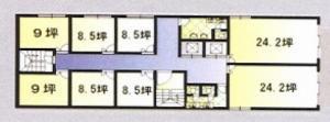 Mebius御堂筋本町BLD(メビウス御堂筋本町ビル基準階間取り図