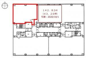 肥後橋センター7階間取り図