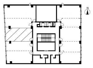 南森町八千代ビルC号室間取り図