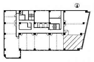 新大阪八千代ビルB号室間取り図