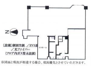 プラザ梅新ビル4階間取り図