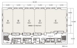 阪神杉村ビルディング(ラグザ大阪)基準階間取り図