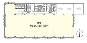 JEI京橋ビル基準階間取り図