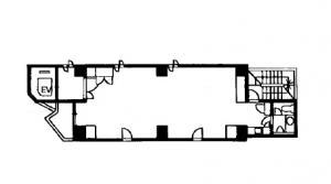 クリスタルタワー基準階間取り図