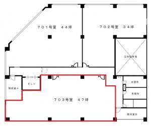 新大阪中里第2ビル7階間取り図