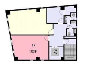 ゼネラルビル4階間取り図