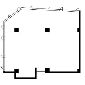 江坂パークビル2階間取り図