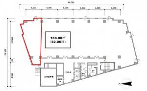 なにわ筋本町MIDビル8階間取り図