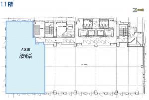御堂筋MTRビル11階間取り図