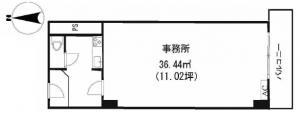 フルーレ新大阪ビル12号室間取り図