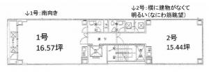 米澤ビル北堀江Ⅱ基準階間取り図