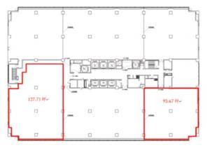 東洋紡ビル6階間取り図