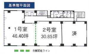 R&Hビル4階間取り図