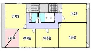 米澤ビル第5江坂基準階間取り図