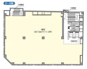 京阪神安土町ビル基準階間取り図