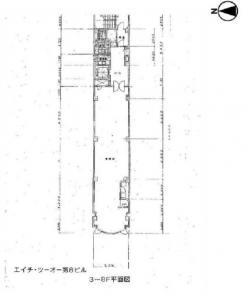 エイチツーオー第8ビル基準階間取り図