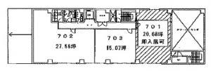 トーア紡第2ビル7階間取り図