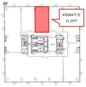 LUCID SQUARE UMEDA(ルーシッドスクエア梅田)8階間取り図