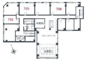 新大阪日大ビル7階間取り図