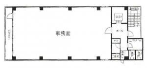 SURE堂島ビル基準階間取り図
