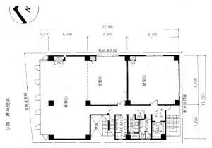 TEK第1ビル9階間取り図