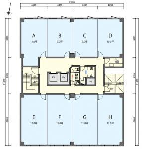 新中島ビル基準階間取り図