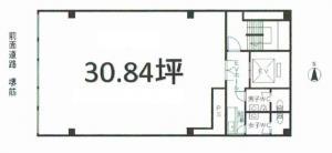エスペランサ瓦町ビル基準階間取り図