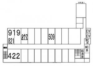 西本町新興産ビル基準階間取り図