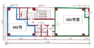 旭ビル4階間取り図