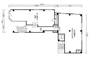 ミフネ本町ビル2階間取り図